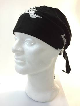 Headwrap, musta, skeleton face - Headwrapit - HW160 - 1