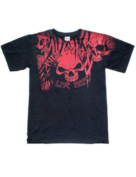 T-Paita, Hot Leathers Over The Top Skull - T-paidat - TP690 - 1