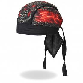 Headwrap,Hot Leathers, Skull made of Sku - Headwrapit - HW171 - 1