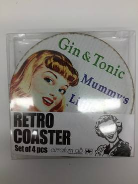 Lasinalunen Retro Gin and Tonic 4 kpl - Astiat - PRT731 - 1