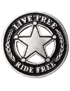 Pinssi, Hot Leathers, Live Free Badge - Pinssit - PNS35 - 1