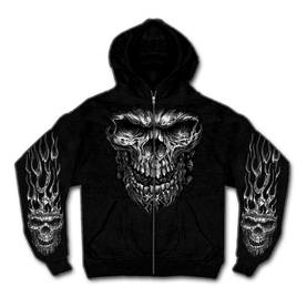 Huppari-Hot Leathers-Shredder Skull-CU376 - Hupparit - CU376 - 1