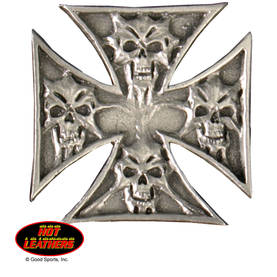 Pinssi-hot leathers-skulls in cross-pns16 - Pinssit - PNS16 - 1