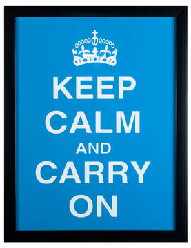 Sisustustaulu-Keep Calm and carry on-PRT326 - Taulut - PRT326 - 1