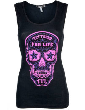 Tank Top-Hot Leathers-Day of Dead - Topit - NP536 - 1