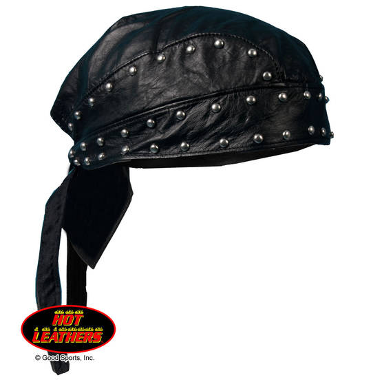 Headwrap,Hot Leathers, Leather & Studs - Headwrapit - HW166 - 1