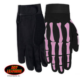 Ajohanska-Hot Leathers-Pink Skeleton - Käsineet - AH47 - 1