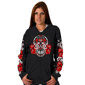 Huppari-Hot Leathers-Sugar Skull - Hupparit - CU377 - 1