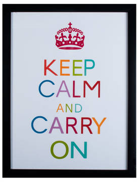 Sisustustaulu-Keep calm and carry on-PRT327 - Taulut - PRT327 - 1