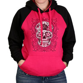 Huppari, Hot Leathers, Sugar Skull Ragla - Hupparit - CU478 - 1