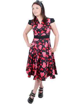Mekko, Hearts&Roses long dress - Hameet ja mekot - HAM219 - 5