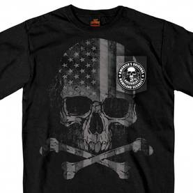 T-Paita, Hot Leathers, Flag Skull Pocket - T-paidat - TP1129 - 1